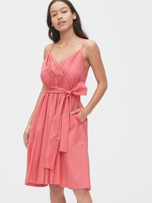 Gap Pleated Wrap Cami Dress