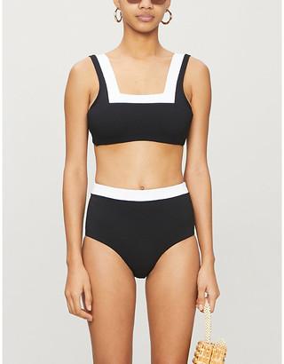 Casa Raki Marina colour-blocked bikini top