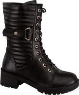 Wild Diva Women's Darian-14 Combat Boot