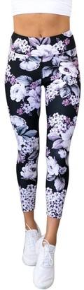 Cocila Trouser Women Floral Print Stretching Sports Gym Yoga Running Fitness Leggings Pants(M