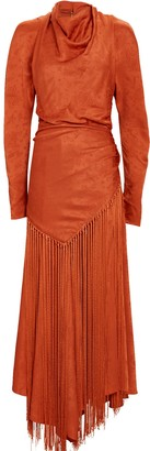 Jonathan Simkhai Leighton Fringed Paisley Midi Dress