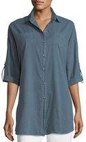 XCVI Ashlie Cotton Twill Button-Front Shirt