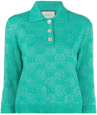 Gucci GG sparkling cropped polo shirt