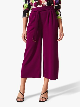 Phase Eight Magma Tie Waist Culottes, Magenta