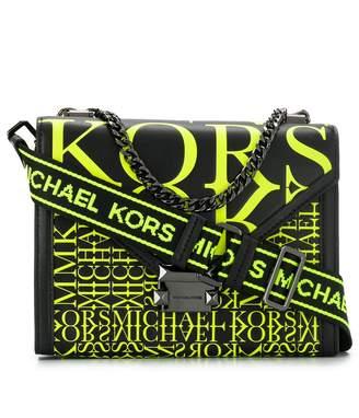 MICHAEL Michael Kors Newsprint Logo convertible shoulder bag
