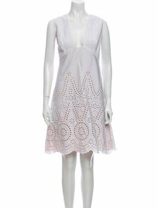 Stella McCartney V-Neck Knee-Length Dress w/ Tags White