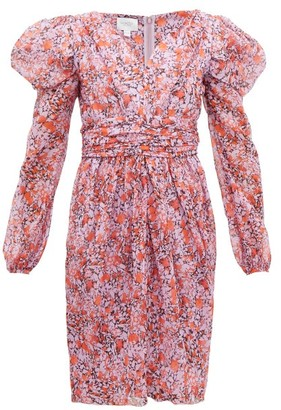 Giambattista Valli Floral-print Silk-georgette Dress - Pink Multi