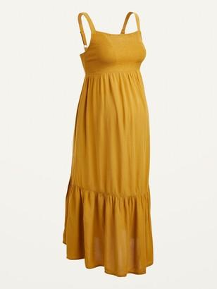 Old Navy Maternity Smocked-Bodice Cami Midi Dress