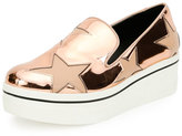 Stella McCartney Binx Metallic Star Slip-On Sneaker, Copper Tea Rose