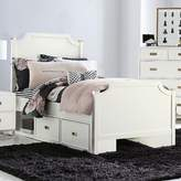 Harriet Bee Angus Panel Bed with Two Storage Drawer Units