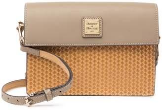 Dooney & Bourke Beacon Woven East/West Leather Flap Crossbody