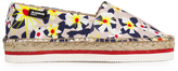 Jil Sander Navy Women's Graphic Flowers Espadrilles Red/White