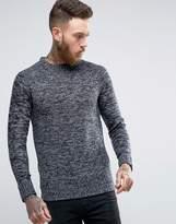 Brave Soul Waffle Sweater