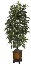 Asstd National Brand Nearly Natural Bracken Fern With Decorative Vase Silk Plant