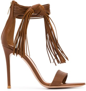 Gianvito Rossi Fringed 100mm Sandals