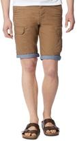 Red Herring Tan Constrast Turn Up Cargo Shorts