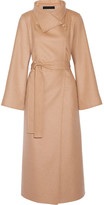 The Row Karmen Wool, Cashmere And Silk-blend Coat - Camel