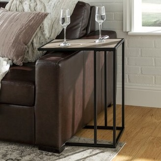Brayden Studio Jorgensen Asymmetrical Modern End Table Color: Gray Wash/Black