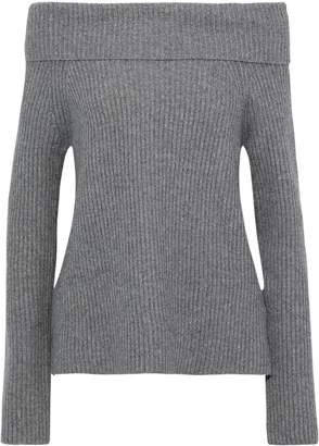 Robert Rodriguez Off-the-shoulder Ribbed-knit Sweater