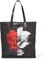 McQ Leather-Trimmed Printed Shell Tote