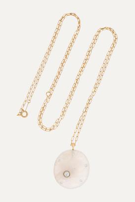 Cvc Stones Ceremony 18-karat Gold, Stone And Diamond Necklace - one size