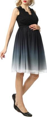 Kimi and Kai Steffy Ombre Chiffon & Lace Maternity Dress