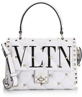 Valentino Garavani Candystud VLTN Leather Top Handle Bag