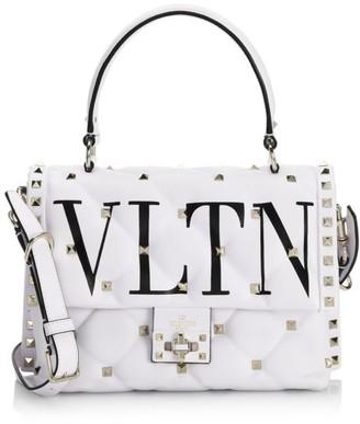 Valentino Candystud VLTN Leather Top Handle Bag