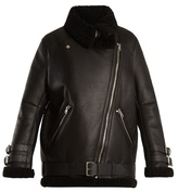 Acne Studios Velocite leather and shearling jacket