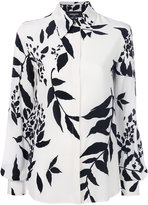Rochas leaf print shirt