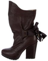 Vanessa Bruno Leather Mid-Calf Boots