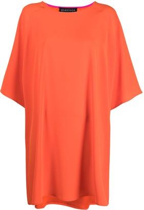 Gianluca Capannolo Short-Sleeved Silk T-Shirt Dress