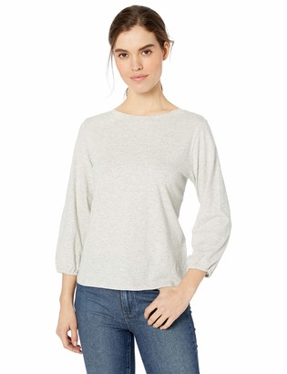 Daily Ritual Amazon Brand Women's Lightweight Lived-In Cotton Puff-Sleeve T-Shirt