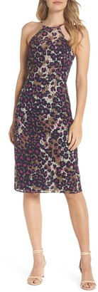 Trina Turk Karin Leopard Lace Halter Dress