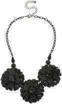 MIXIT Mixit Jet 3 Large 3D Flower Necklace