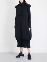 Y-3 Y3 Ladies Black Printed Avant garde Oversized Padded Shell Gilet