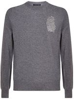 Alexander Mcqueen Ostrich Feather Embellished Sweater