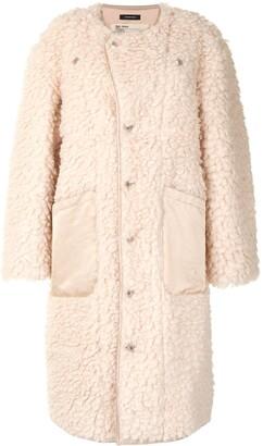 R 13 Faux-Shearling Oversized Coat