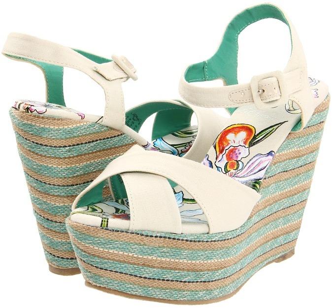 Ed Hardy Cristy Heels (Off White) - Footwear
