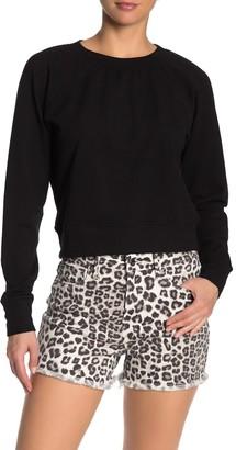 Good American The Open Back Pullover Sweatshirt (Regular & Plus Size)