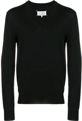 Maison Margiela elbow patch knitted sweater