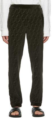 Fendi Green Forever Embossed Lounge Pants