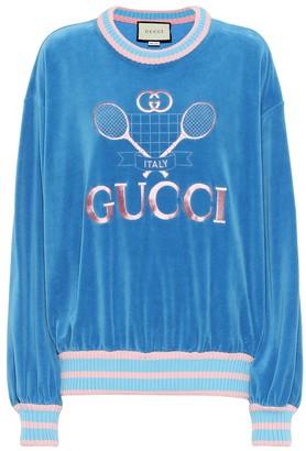 Gucci Tennis cotton chenille sweatshirt