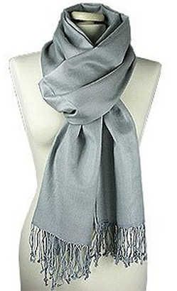 Forzieri Storm Gray Silk and Pashmina Shawl