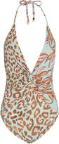 PatBO Mixed Print One-Piece Swimsuit