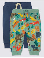 Marks and Spencer 2 Pack All Over Print Joggers