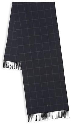 Polo Ralph Lauren Core Windowpane Cashmere & Wool Scarf