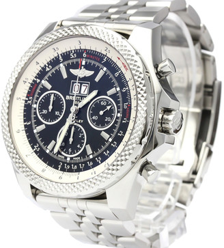 Breitling black Stainless Steel Bentley 6.75 Steel Automatic A44364 Men's Wristwatch 49 MM
