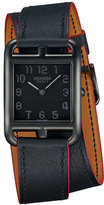Hermes Cape Cod Matte Black Leather Wrap Watch