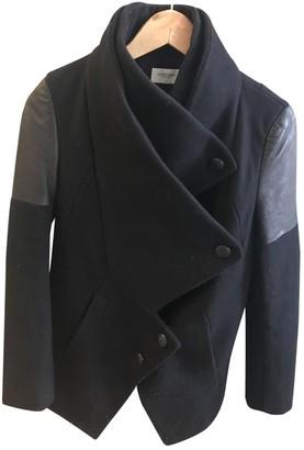 Eleven Paris Black Wool Coat for Women